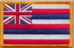 Hawaii Embroidered Flag Patch, style 08.